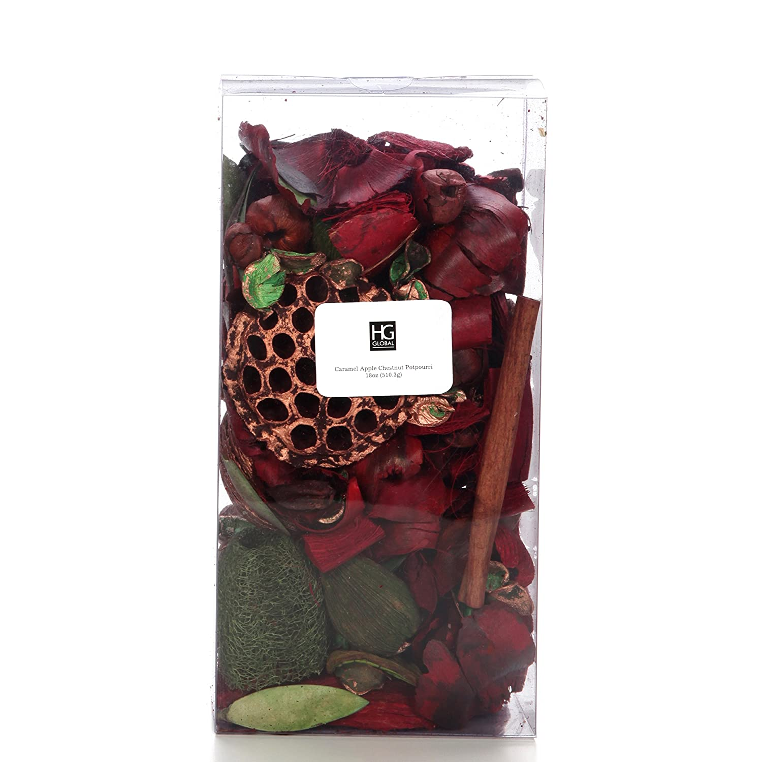 Hosley's Premium Caramel Apple Chestnut Potpourri- 18oz. Perfect for Wedding or Special Occasion; for Everyday use, Wedding, Events, Aromatherapy, Spa, Meditation P2 HG Global