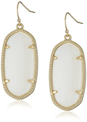 6a067918b Kendra Scott Signature Elle Earrings in White Mother of Pearl and Gold  Plated