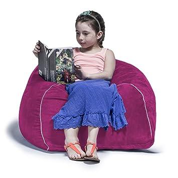 Enjoyable Jaxx Bean Bags Club Jr Bean Bag Chair For Kids 2 5 Feet Fuchsia Microsuede Unemploymentrelief Wooden Chair Designs For Living Room Unemploymentrelieforg