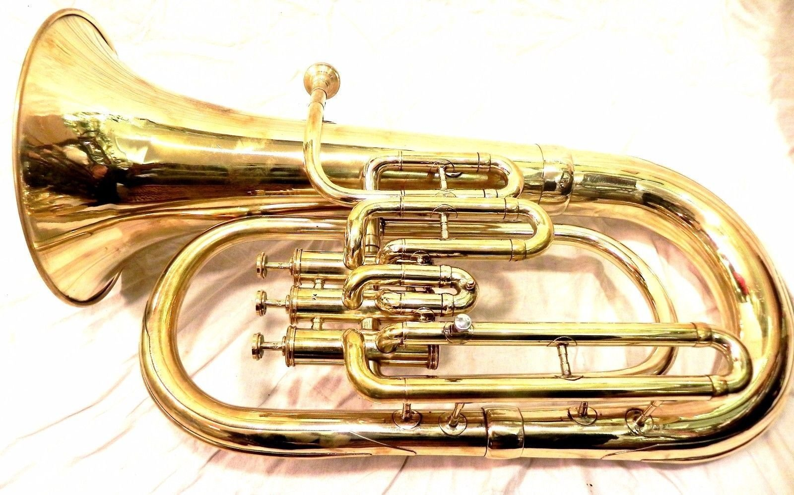 Euphonium Brass Polish 3 Valve euphonium & Mouth Piece with Bag tuba