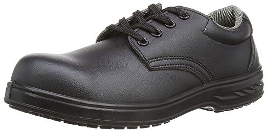 Portwest Steelite Laced Safety Shoe S2, Herren Sicherheitsschuhe, Schwarz, 39 EU (6 UK)