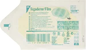 """3m Tegaderm Transparent Film Dressing 2.375"""" x 2.75""""/Picture Frame Style/Package of 20"""