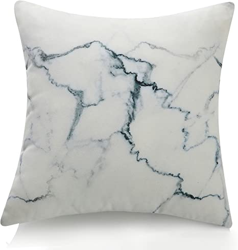 Amazon Com Vercart Square 3d Artificial Living Rock Stone Throw Pillows Stuffing Plush Toys For Children Creative Home Decoration Photo Or Film Props 17x17inches White Marble Home Kitchen