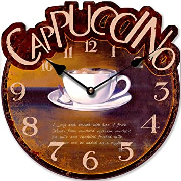 WALL CLOCK CAPPUCCINO CUP KITCHEN CLOCK MODERN Tinas Collection
