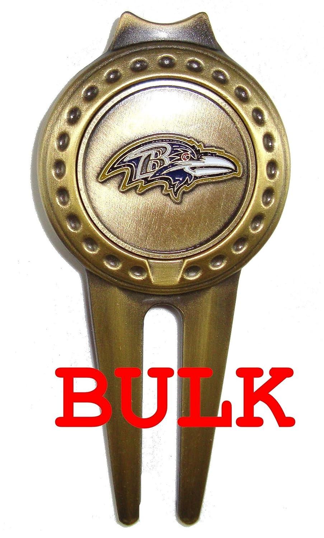 バルク: 50 Baltimore Ravens Divotゴルフボールマーカー、ツール   B00PKWRXWQ