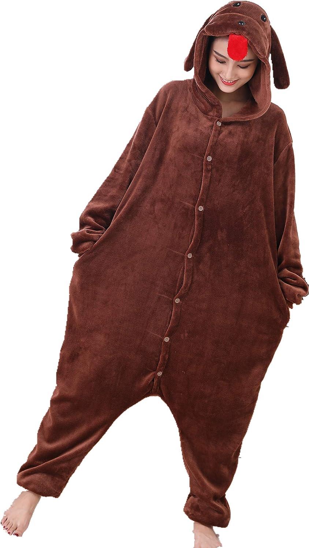 MizHome Unisex Adult Performance Clothing Dog Pajamas Anime Costume