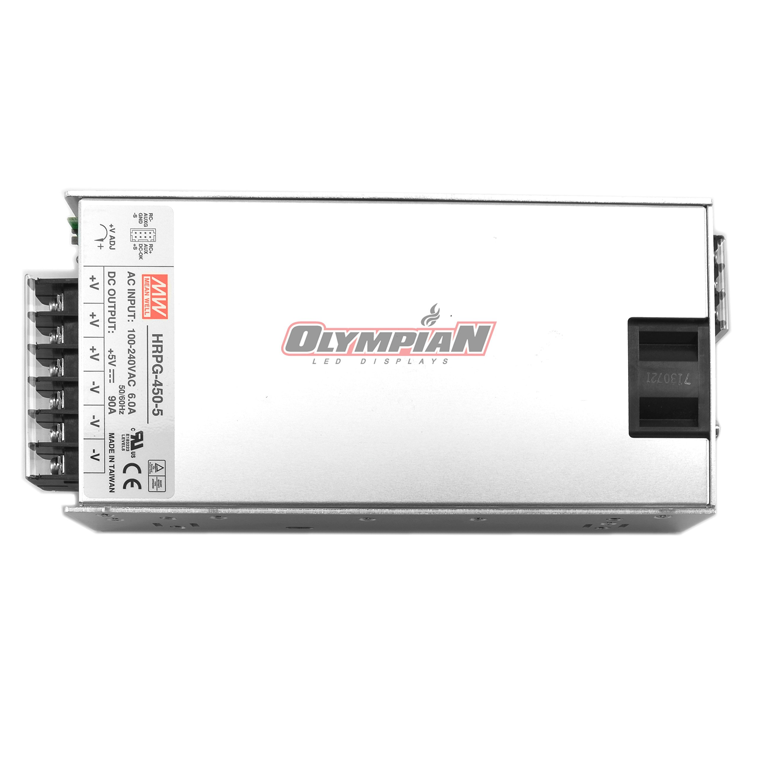 Mean Well HRPG-450-5 Switching Power Supply 450W 5V 90A /W PFC
