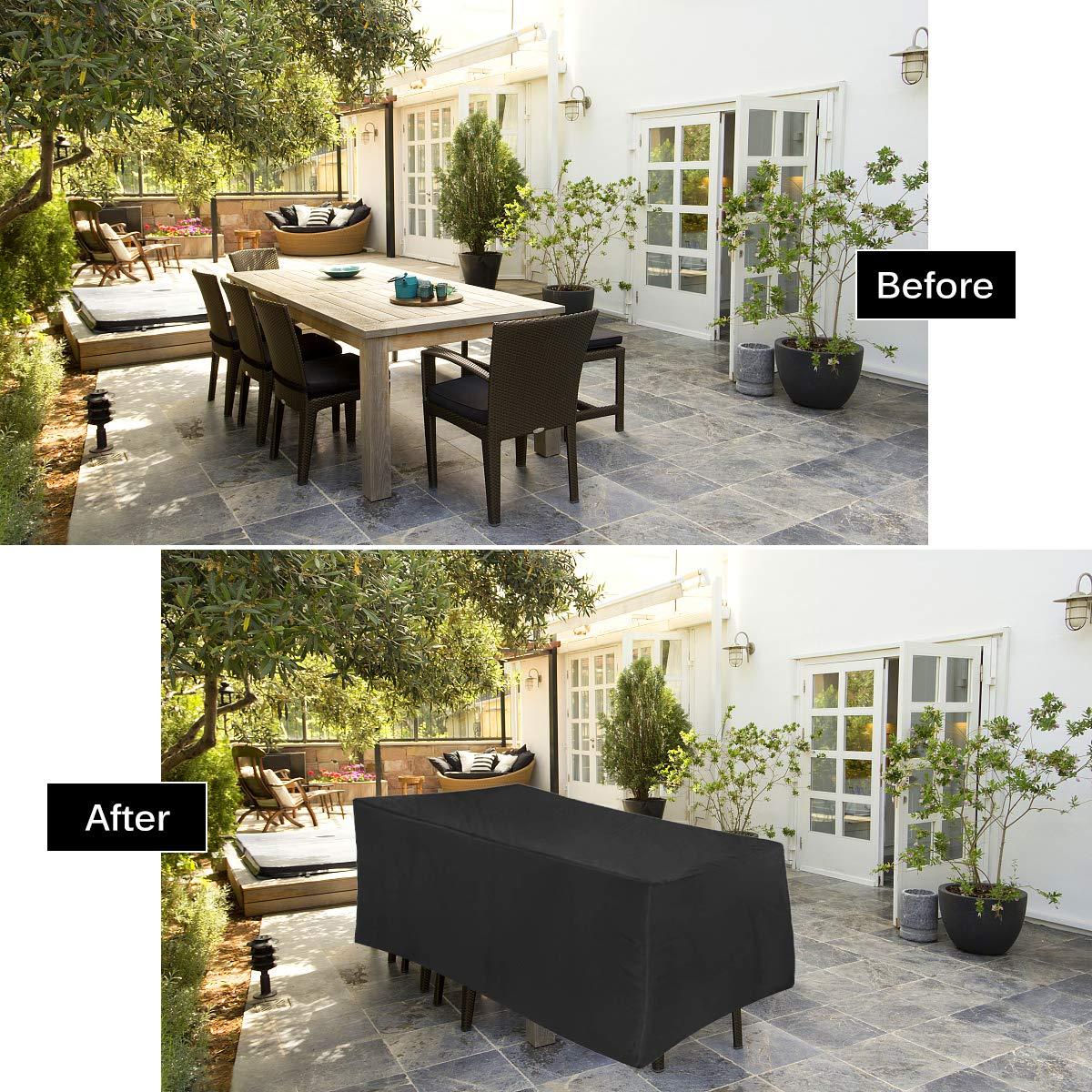 Gartenmöbel Abdeckung 210D Oxford Gewebe Schutzhülle Für Garten Tisch Und  Stühle   UV Schutz,Wasserdicht Multi Size ...