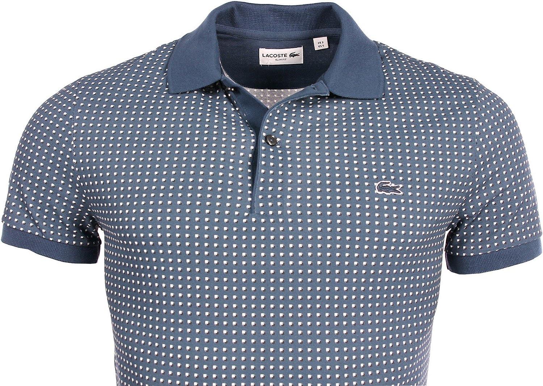 Lacoste - Polo - Camisas De Polo - Manga Corta - para Hombre Azul Azul 3: Amazon.es: Ropa y accesorios