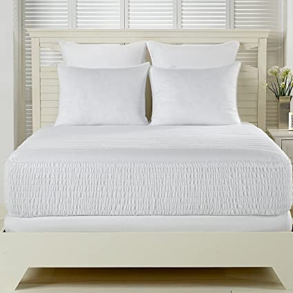 Simmons Beautyrest Beautyrest 300 hilos almohadilla de colchón de algodón de fibras largas