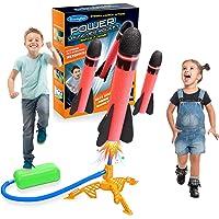 LetsGO toyL Cohete Juguete, Stomp Juguete Rocket Juegos al Aire Libre para Niños - Regalo Cumpleaños Infantil