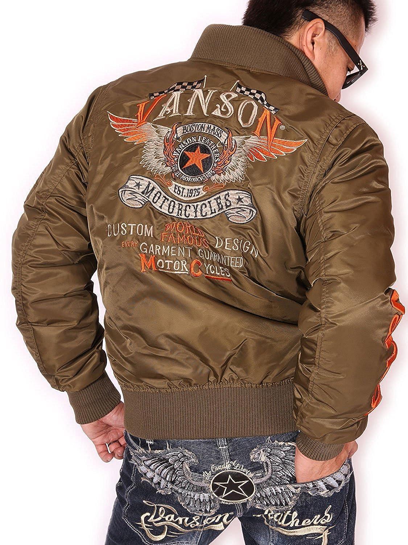 (バンソン) VANSON フライングスター MA-1 フライトジャケット MA-1 NVJK-702 B076H3KGT2  Vグリーン (バンソン) VANSON L, プインプル化粧品:a8eb2191 --- jpworks.be