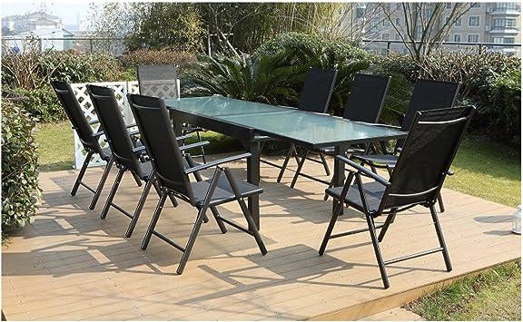 Jfb Le Velia Salon De Jardin En Aluminium 8 Personnes Amazon Fr