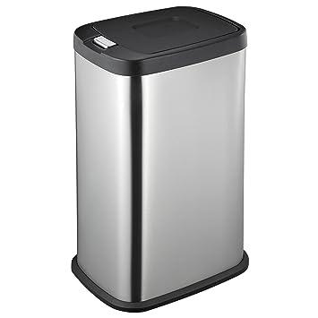 Mari Home Acero inoxidable 38 L Cubo de basura resistente a huellas dactilares touch bin de acero Basurero reciclaje: Amazon.es: Hogar