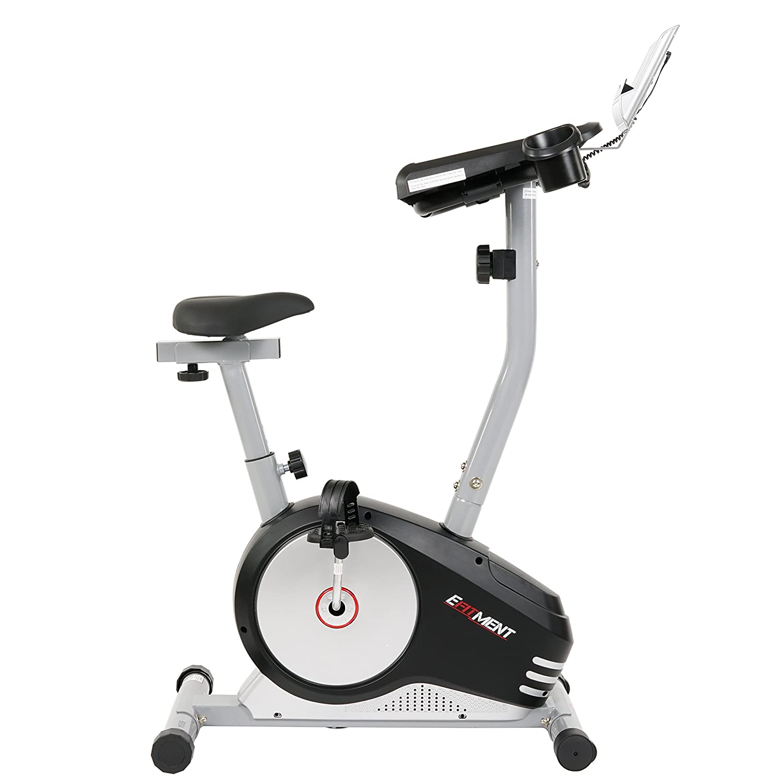 amazoncom workstation desk exercise upright bike desk bike w table by efitment b004 sports u0026 outdoors
