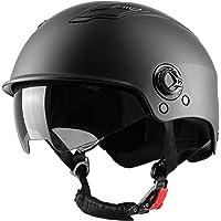 Westt Escape - Casco de Patinete Eléctrico con Visera Solar - Casco Multiuso Negro Mate para Monopatín, Bicicleta y…