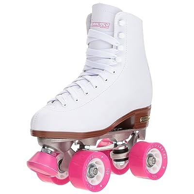Chicago Women's Classic Roller Skates - Premium White Quad Rink Skates : Sports & Outdoors
