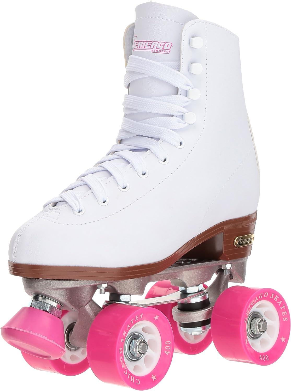 Chicago Women's Classic Roller Skates - Premium White Quad Rink Skates / US