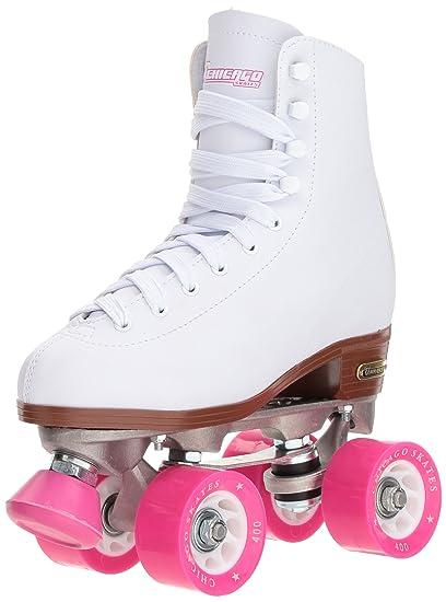 Amazon.com   Chicago Women s Classic Roller Skates - White Rink ... 31ddf323ae