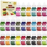 Colorante alimentario 24*6ml, Colorante Alimentario Alta Concentración Liquid Set para Colorear los Bebidas Pasteles…