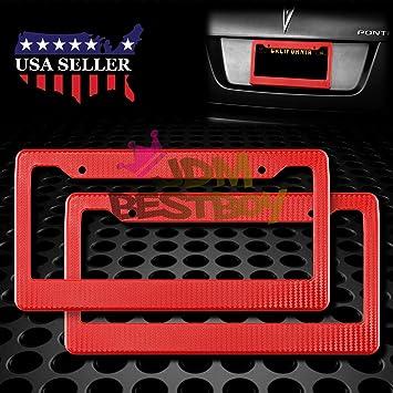 2pcs MAZDA 3 6 Gloss Black Stainless Steel License Plate Frame Front /& Back