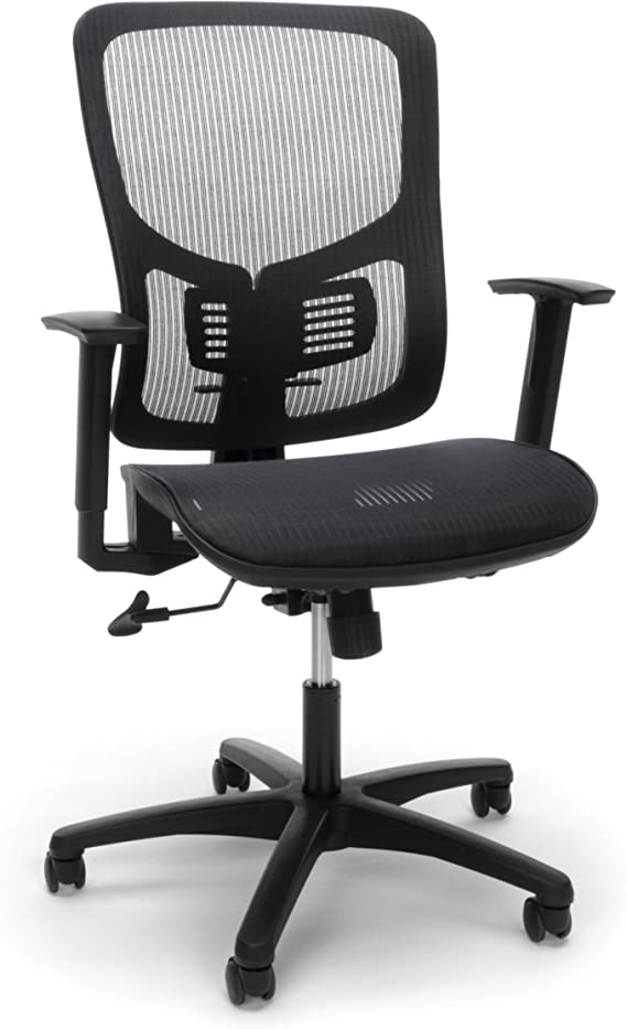OFM Essentials Collection Mesh Seat Ergonomic Office Chair with Lumbar Support