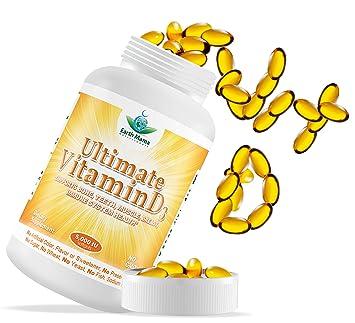 #1 Vitamin D3 - Vitamin D3 5000 IU Cholecalciferol Natural Lanolin Source –  GMO Free - High Potency