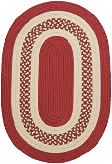 product image for Colonial Mills Floor Decorative Crescent - Terracotta 4'x6' Oval Rug
