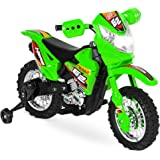 Best Choice Products Kids 6V Ride On Motorcycle w/ Treaded Tires, Working Headlights, 2mph Top Speed, Training Wheels, Realis