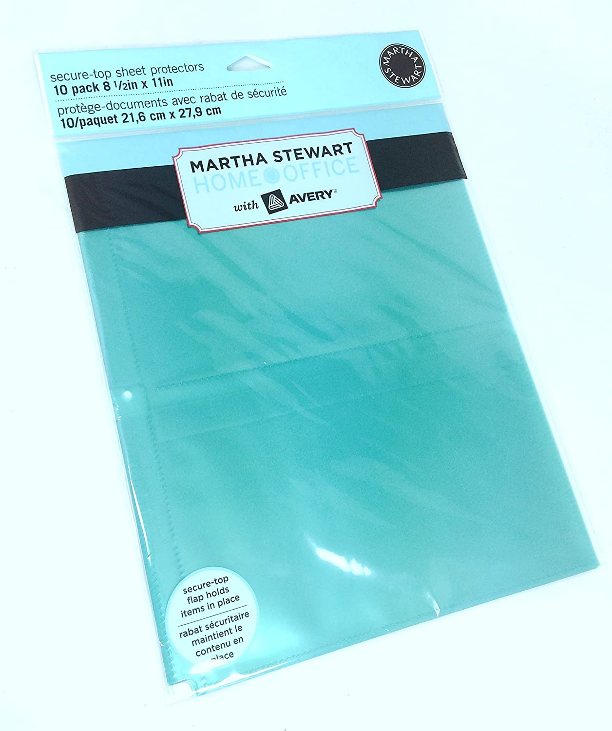 2 Pk, Martha Stewart Home Office Secure-Top Sheet Protectors