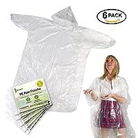 Poncho de pluie transparent jetable étanche de matériau PE Adulte, imperméable avec hottes et manches pour camping, voyage, activités en plein air Unisexe