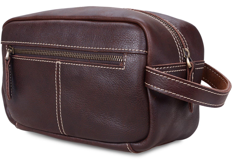 c998e1e3ec0a Amazon.com   ALTOSY Mens Leather Toiletry Bag Travel Shaving Dopp kits  Organizer Case (YD8102