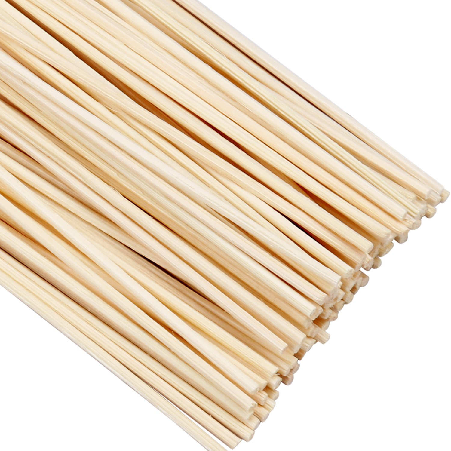 Cavetee 150 Set Reed Diffuser Sticks Wood Rattan Diffuser Essential Oil Replacement Sticks 24 cm/9.45 inches