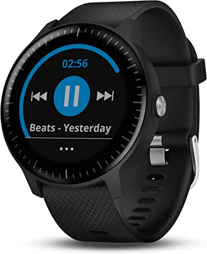 PlayBetter Garmin vivoactive 3 Music GPS Smartwatch Power Bundle with HD Screen Protector Film x4 USB Portable Charger Spotify, Activity Fitness Tracking, Garmin Pay Black with Music WiFi