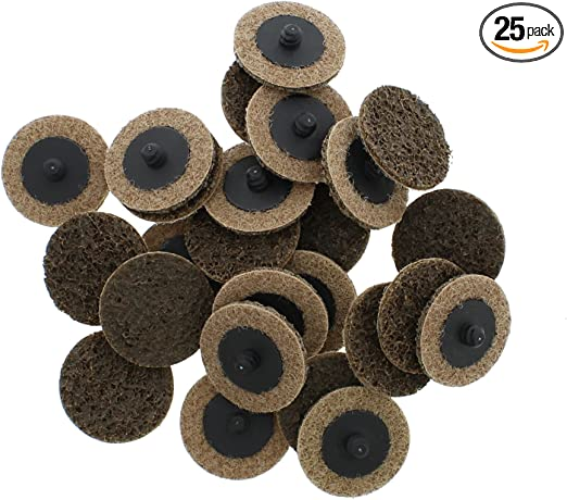 "100 Pack 2/"" Roloc Surface Conditioning Discs Coarse Tan Quick Change Prep Pads"