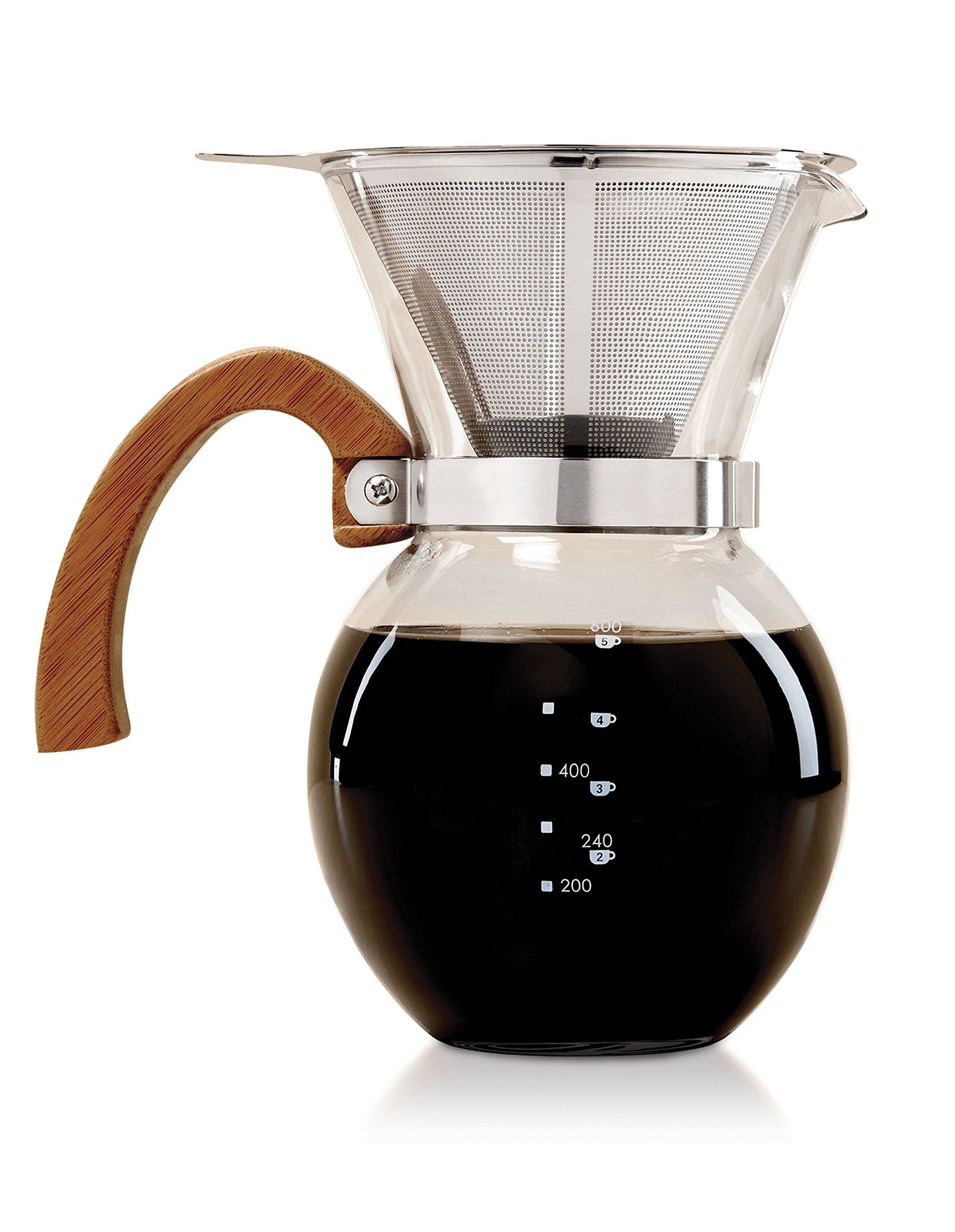 HIC Harold Import Co. 43781 HIC Pour-Over Coffee Maker, Clear