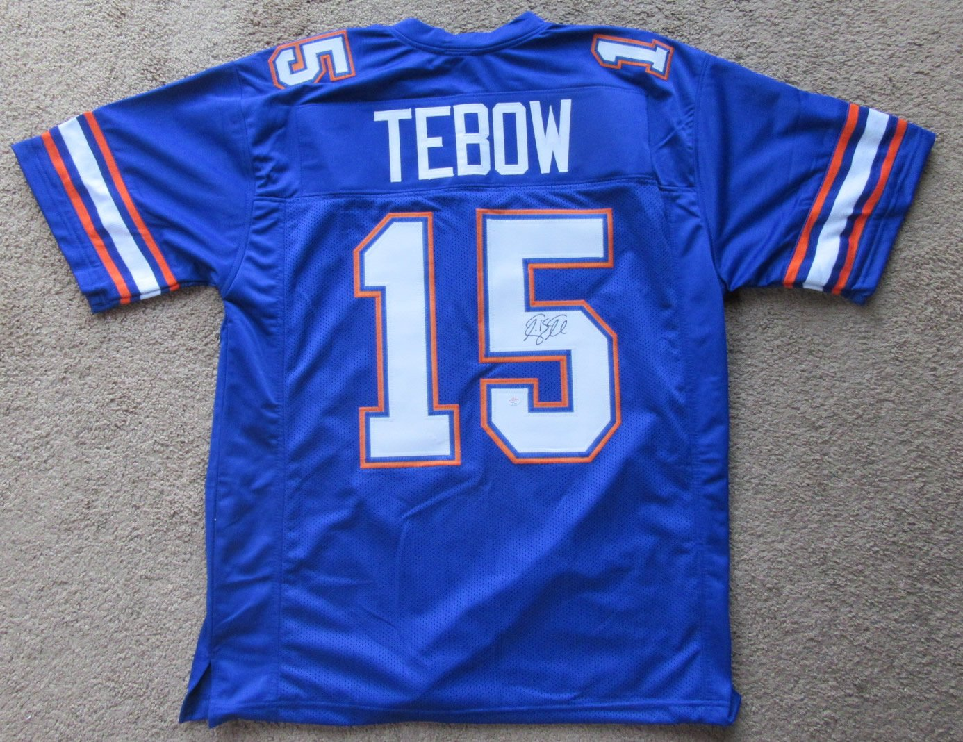 cheaper fcd62 ab604 Tim Tebow Florida Gators Signed Autographed Football Jersey ...