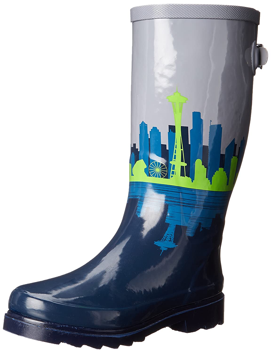 Chooka Women's Tall Rain Boot B010AZVYEA 8 B(M) US|Skyline