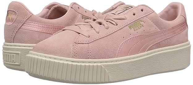 PUMA Damen Sneaker Suede Platform Satin Sneaker 365828 003 rosa 301695
