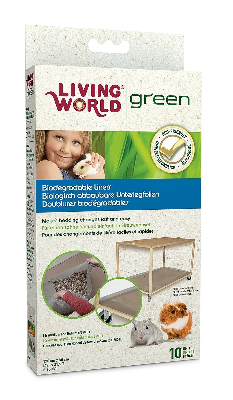Living world Paquet de 10 doublures écologiques biodégradables pour habitat Taille M 65081