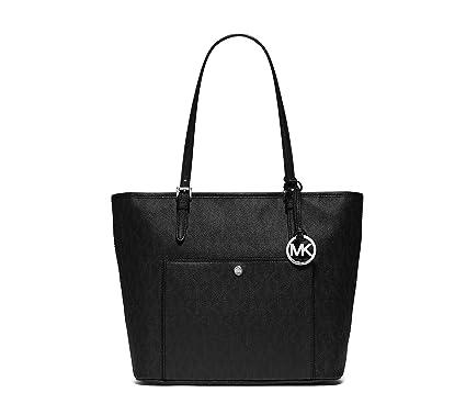 c79f841cc6ef Amazon.com: MICHAEL Michael Kors Womens Jet Set Leather Signature Tote  Handbag: Clothing