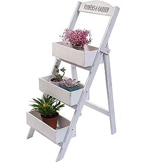 Escaleras de flores Estantería Estantería de flores 3 pasos Blumentreppe Estantería…