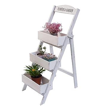 Étagère jardinière à 3 étages, escalier porte-plantes à 3 marches en ...