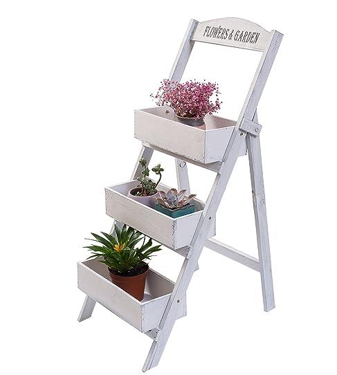 Étagère jardinière à 3 étages, escalier porte-plantes à 3 marches ...