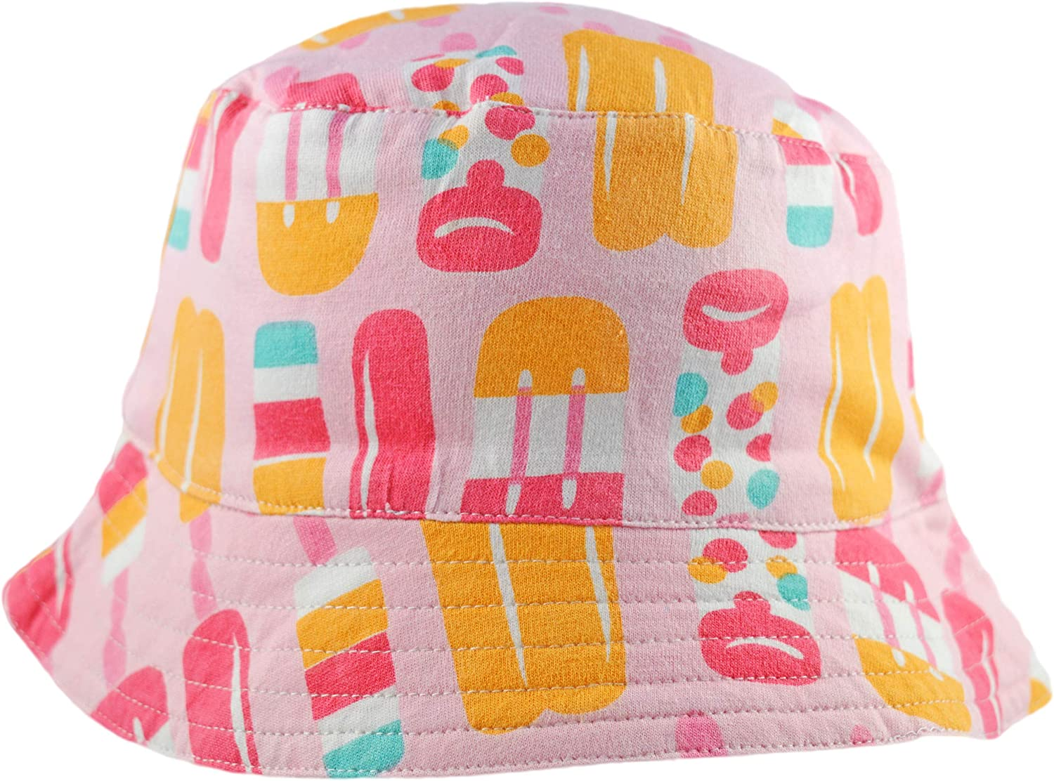 Pink Big Fisch Girls Sun Hat Summer Bucket Reversible Stripe and Lolly 8-13 Years