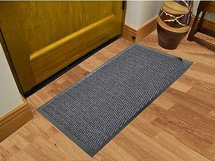 Grey Commodore Barrier Heavy Duty Mats Non Slip Rug Floor Office Home 60 x 180cm