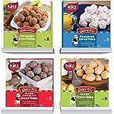 Katz Gluten Free Donut Holes Variety Pack - 1 x Powdered, 1 x Glazed, 1 x Glazed Chocolate, 1 x Cinnamon