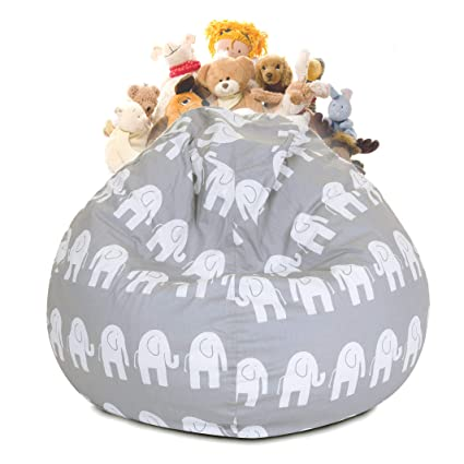 a9abc40a783 Image Unavailable. Image not available for. Color  Majestic Home Goods  81001093031 Ellie Stuffed Animal Toy Storage ...