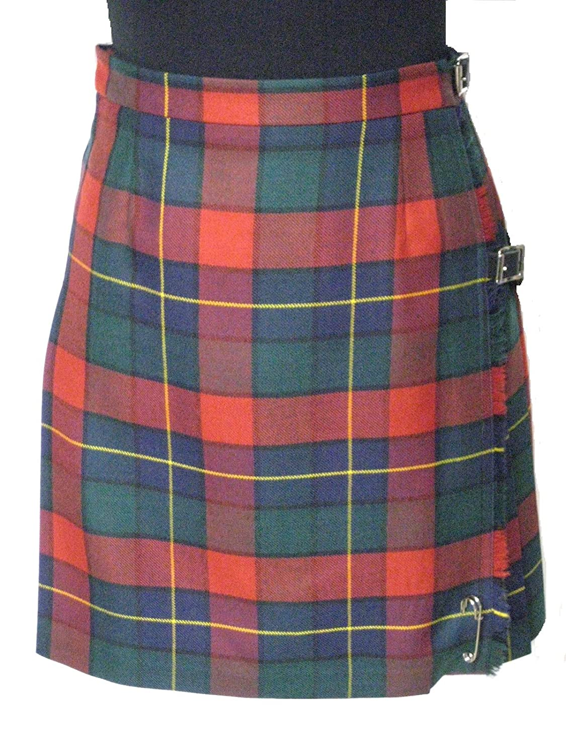 Ladies 100% Wool Kilgour Tartan Knee Length Kilt - Made in Scotland by Lochcarron