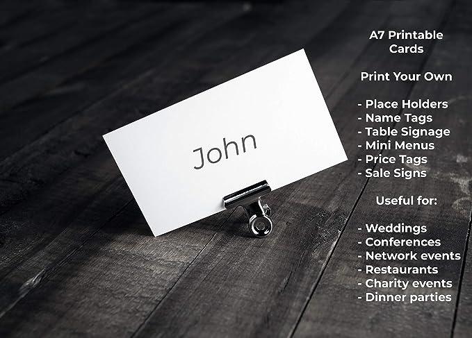 12 Blatt 96 Karten gratis Vorlage 8 Karten pro wei/ßem A4 Blatt 150 g//m/² OfficeGear A7 Karte perforiert bedruckbare Plattenregister Lernkarten 74 x 105 mm 2,9 x 4,1 in